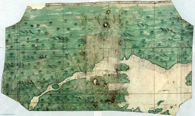 Mapa rzeki Świętego Wawrzyńca, okolo 1541 rok