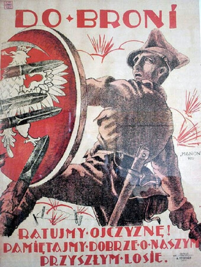 Polski plakat rekrutacyjny zlipca 1920r.