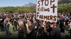 Czarny protest białych farmerów