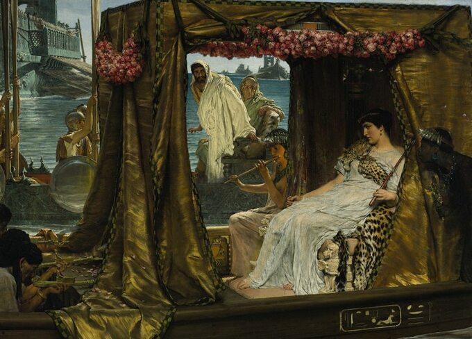 Lawrence Alma-Tadema, Spotkanie Antoniusza iKleopatry