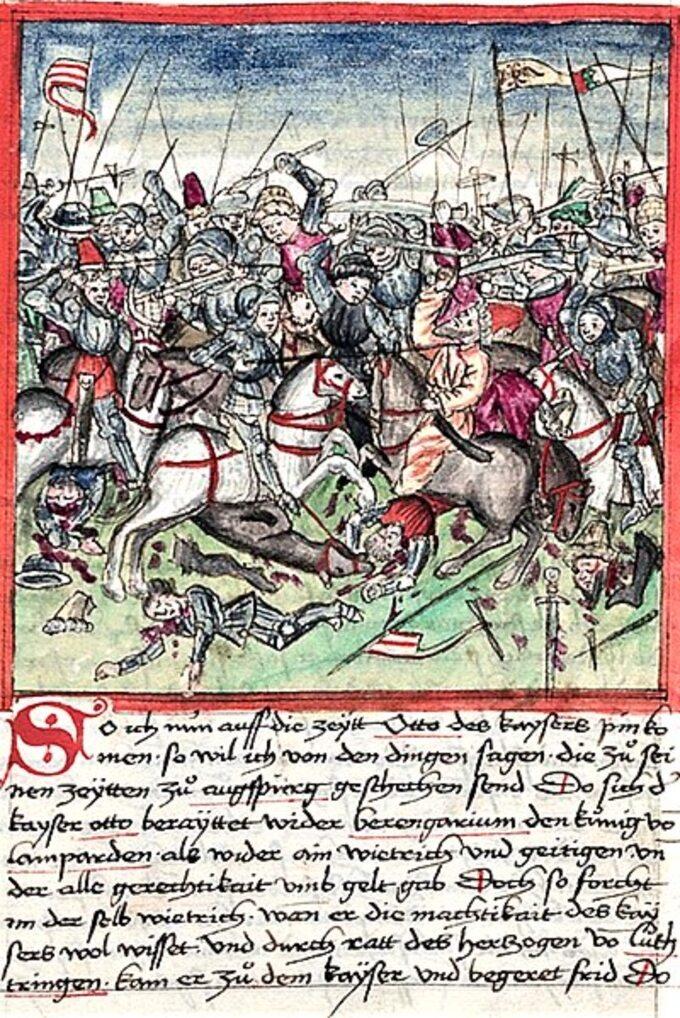 Bitwa naLechowym Polu, ilustracja z1457 roku