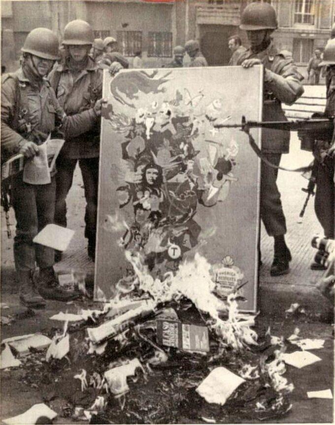 Żołnierze podczas zamachu stanu wChile, 1973 rok