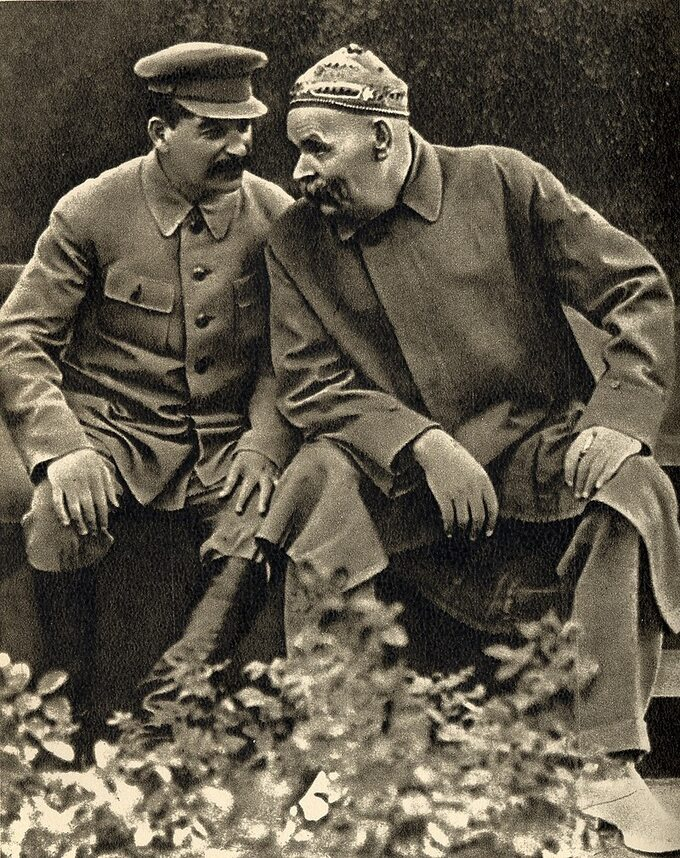 Maksim Gorki zeStalinem, 1931r.