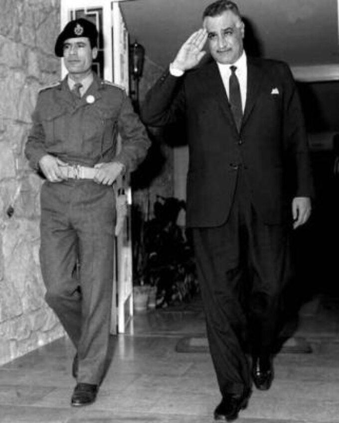 Muammar Kaddafi (przywódca Libii) iGamal Naser (prezydent Egiptu)