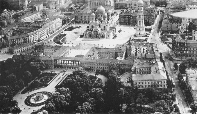 Pałac Saski iPlac Saski wraz zSoborem św. Aleksandra Newskiego