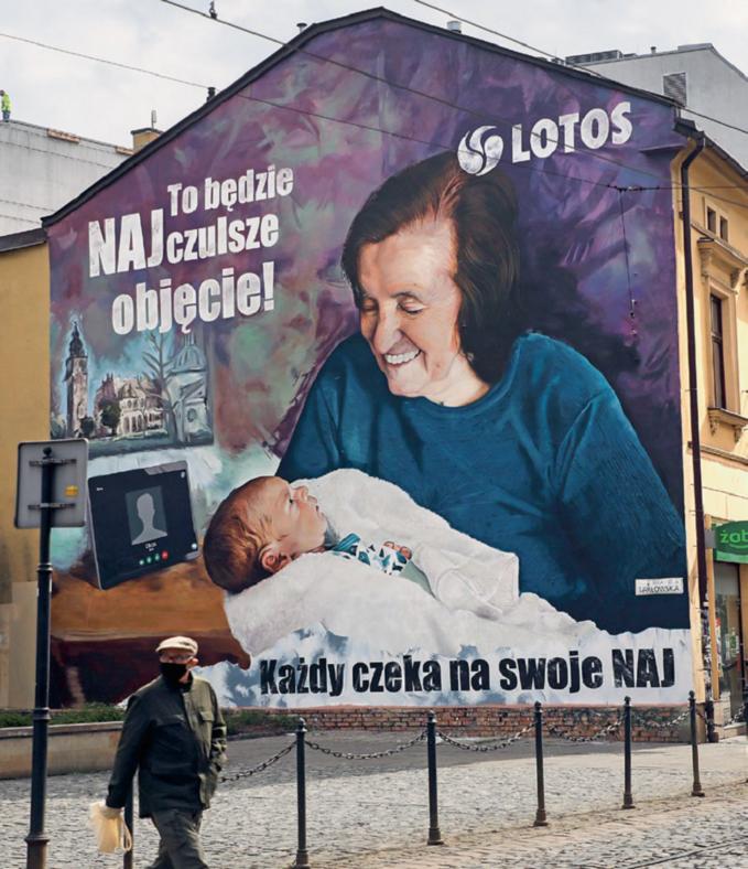Mural Grupy LOTOS wKrakowie