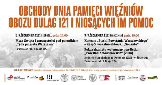 Obchody Dnia Pamięci Więźniów Obozu Dulag 121 iNiosących ImPomoc 2-3 października 2021