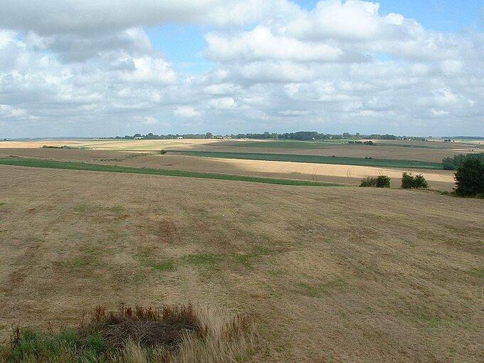 Miejsce bitwy podCrecy, zdjęcie współczesne