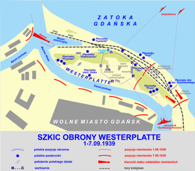 Obrona Westerplatte – szkic