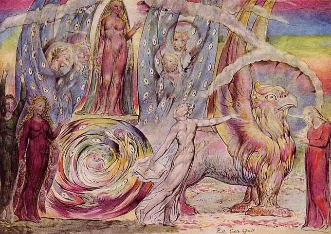 William Blake, Rozmowa Dantego iBeatrycze