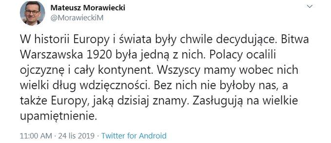 Wpis premiera Morawieckiego
