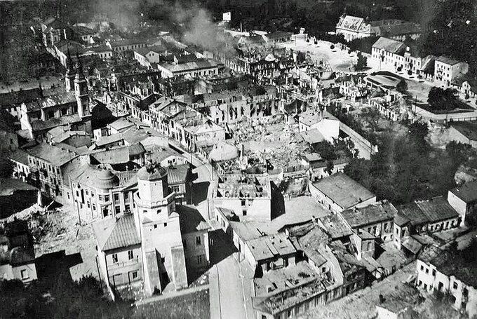 Wieluń pobombardowaniu, 1 września 1939 rok