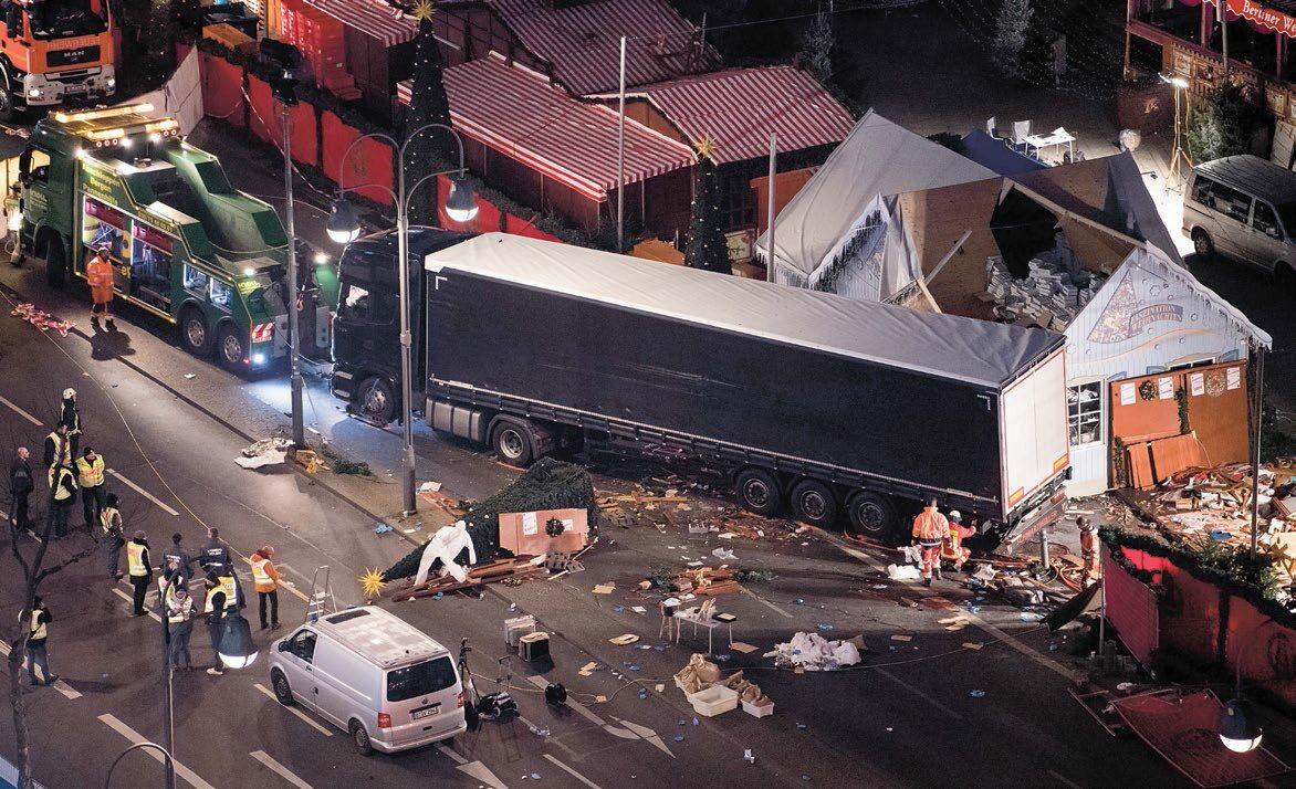 19 grudnia w zamachu w Berlinie zginęło co najmniej 12 osób