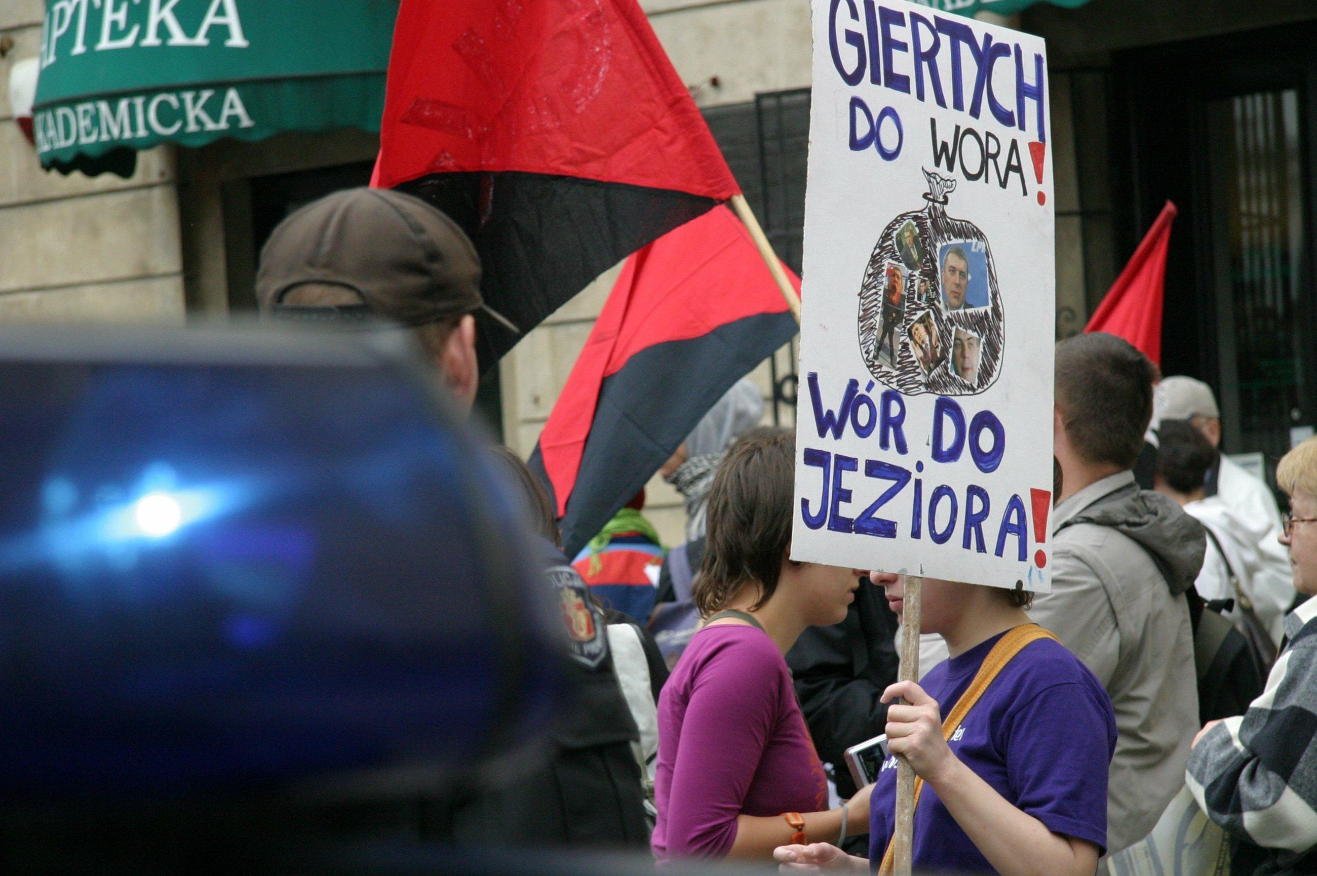 2006 r.: Demonstracja przeciwko wicepremierowi ministrowi edukacji narodowej, Romanowi Giertychowi