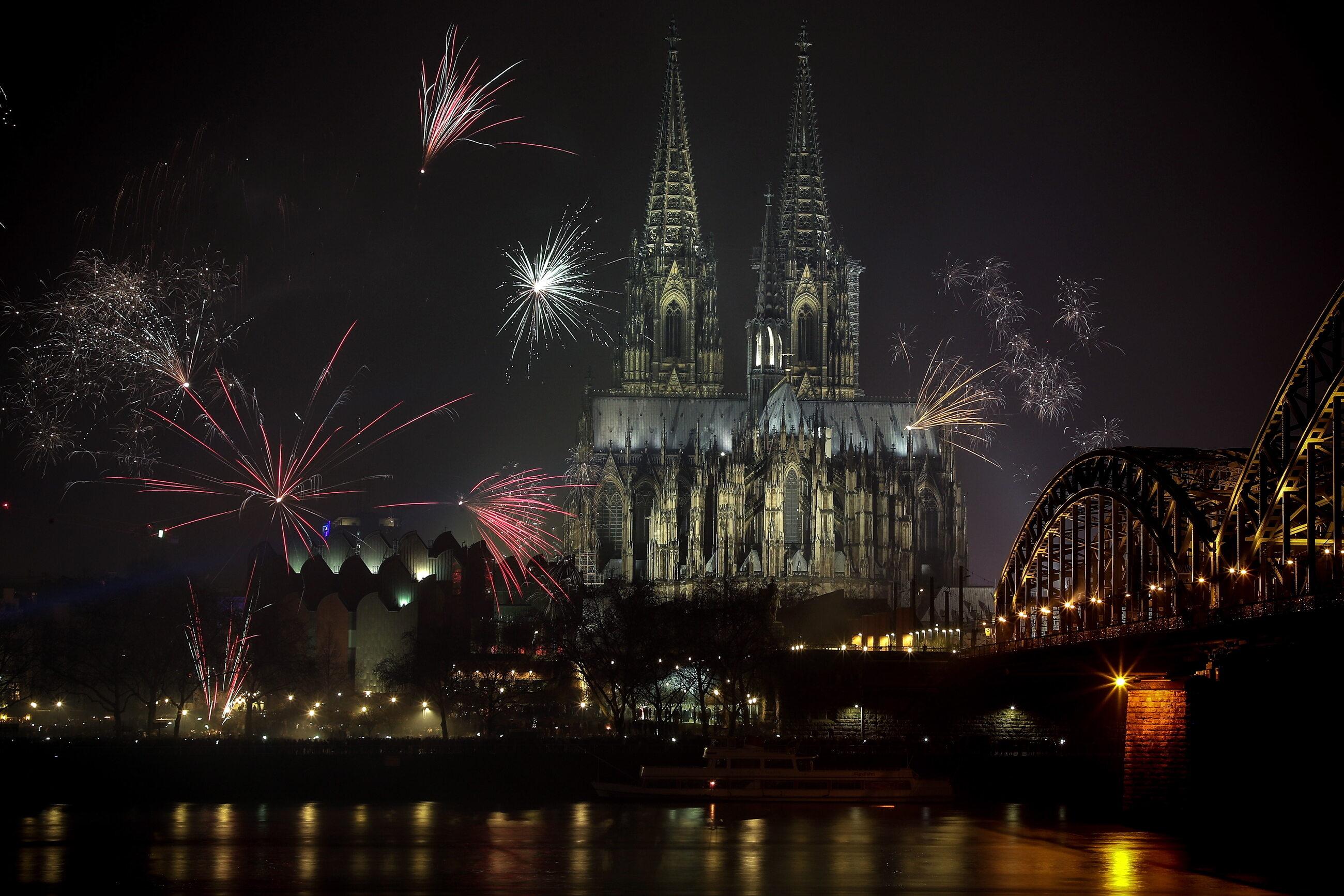 2019. Nowy Rok w Kolonii w Niemczech