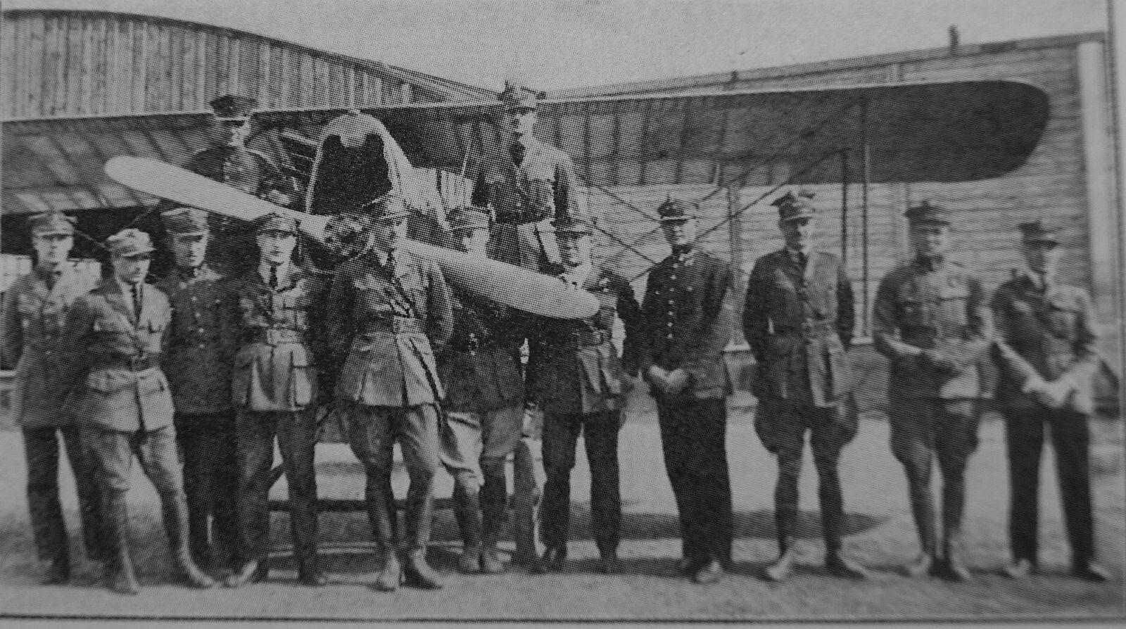 7 eskadra myśliwska im. Tadeusza Kościuszki we wrześniu 1920 we Lwowie.