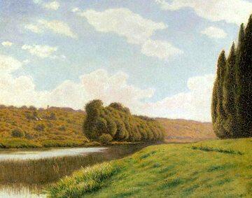A. Gierymski, Krajobraz Włoski z cyprysami, 1900-1901