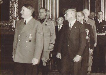 A. Hitler i P. Teleki, 1940 rok