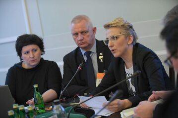 Agaty Diduszko-Zyglewska, Marek Lisiński i Joanna Scheuring-Wielgus