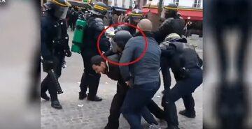 Alexandre Benalla przebrany za policjanta bierze udział w akcji policji