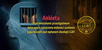 Ankieta – Przeciwdziałanie przestępstwom dotyczącym naruszenia wolności sumienia popełnianym pod wpływem ideologii LGBT