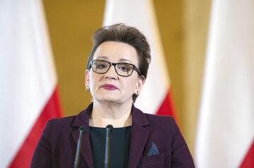 Anna Zalewska, szefowa MEN