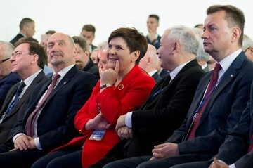 Antoni Macierewicz, Beata Szydło, Jarosław Kaczyński, Mariusz Błaszczak