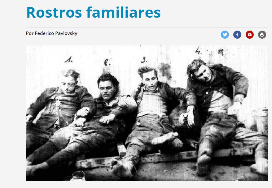 Argentyński dziennik użył tego zdjęcia do zilustrowania artykułu o mordzie w Jedwabnem