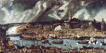 A.S. Coello, Stocznie nad Gwadalkiwirem w Sewilli, XVI wiek
