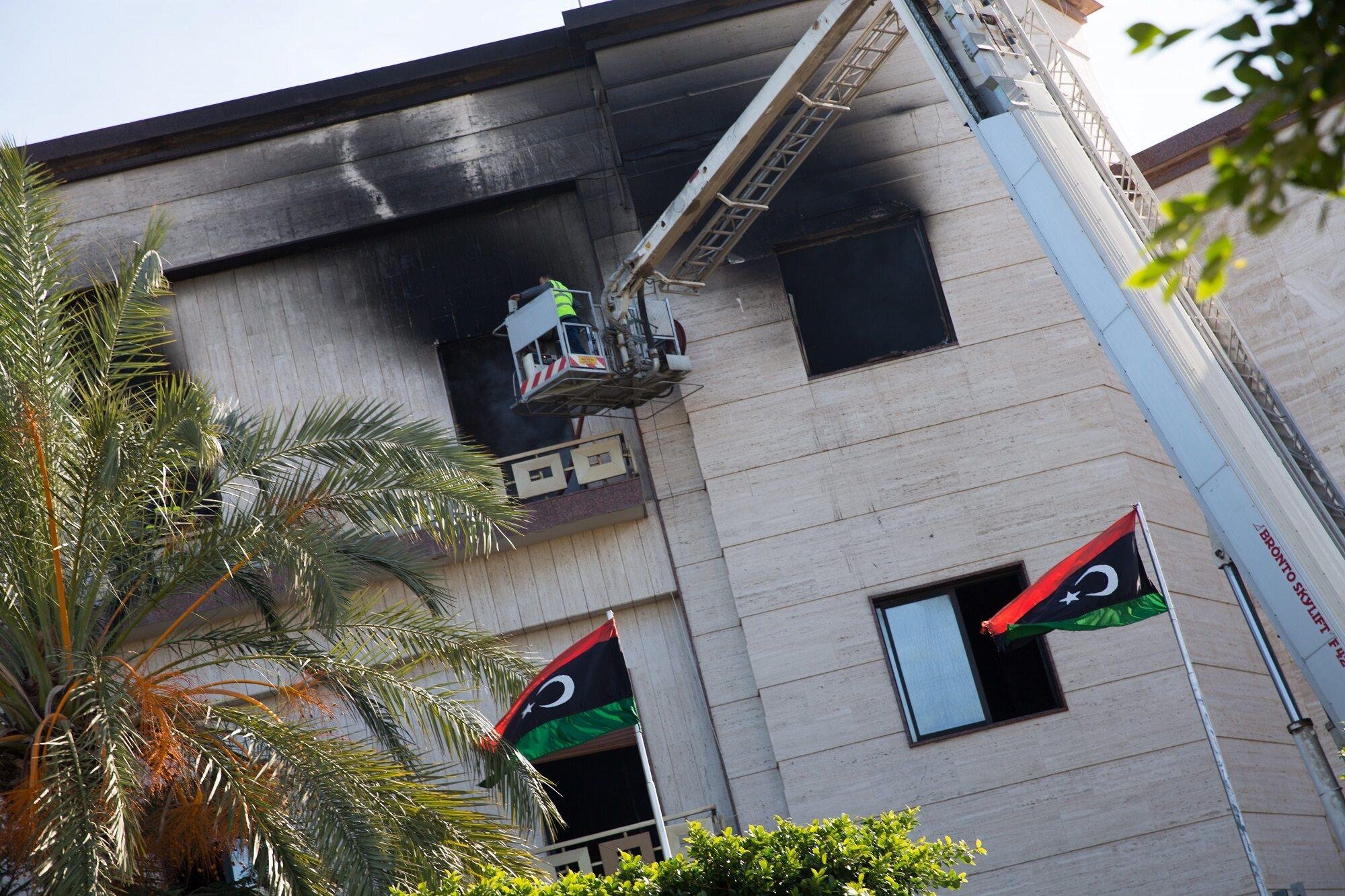 Atak na libijskie Ministerstwo Spraw Zagranicznych