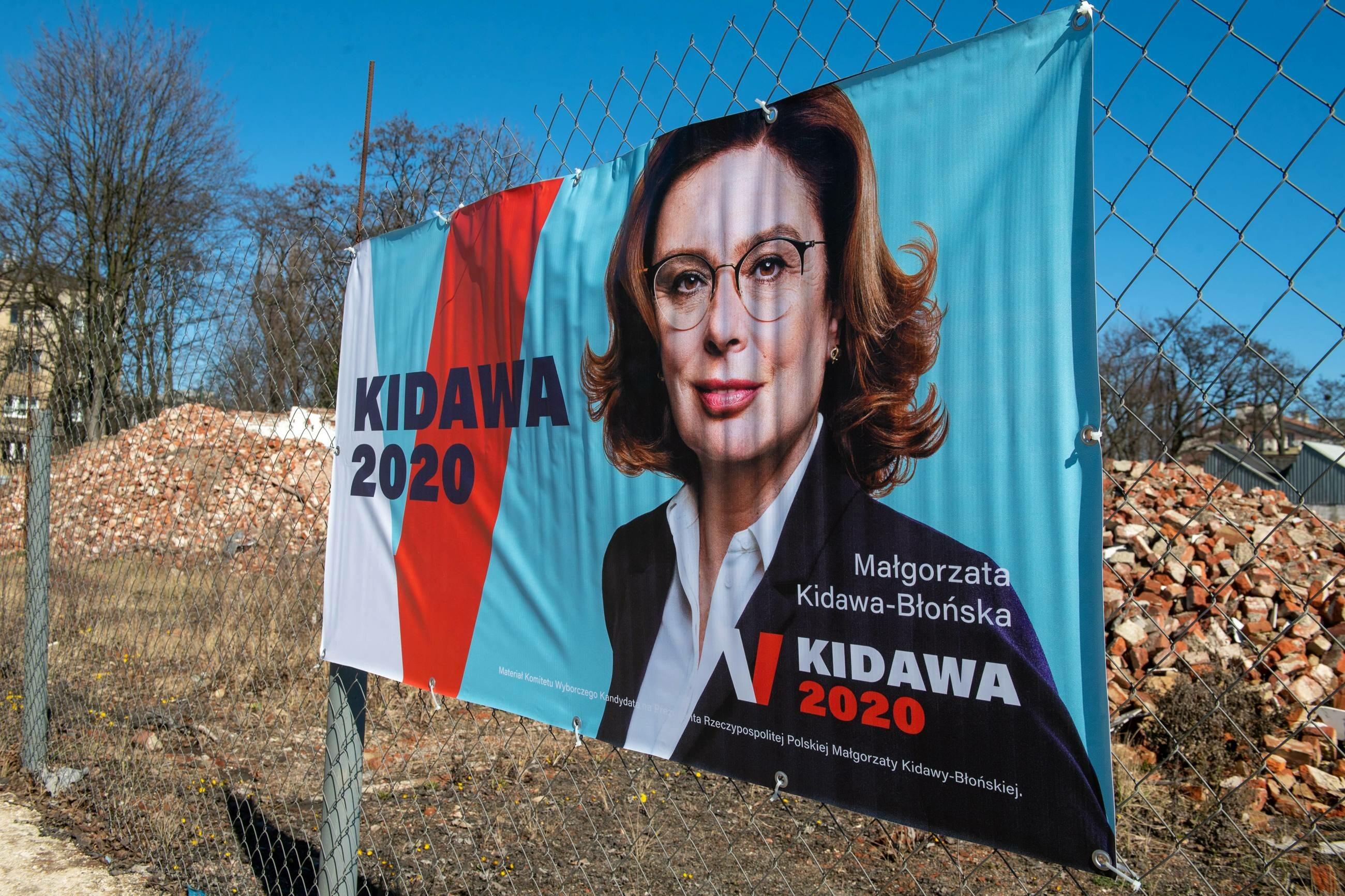 Baner wyborczy kandydatki PO na prezydenta Małgorzaty Kidawy-Błońskiej