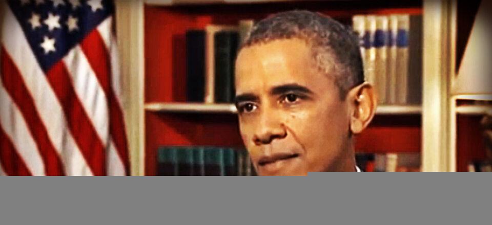 Barack Obama zjada syryjską żabę