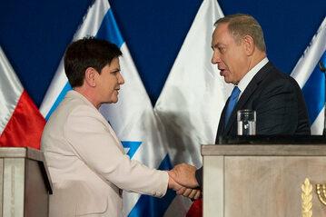 Beata Szydło i Benjamin Netanjahu
