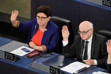 Beata Szydło i Zdzisław Krasnodębski w Parlamencie Europejskim
