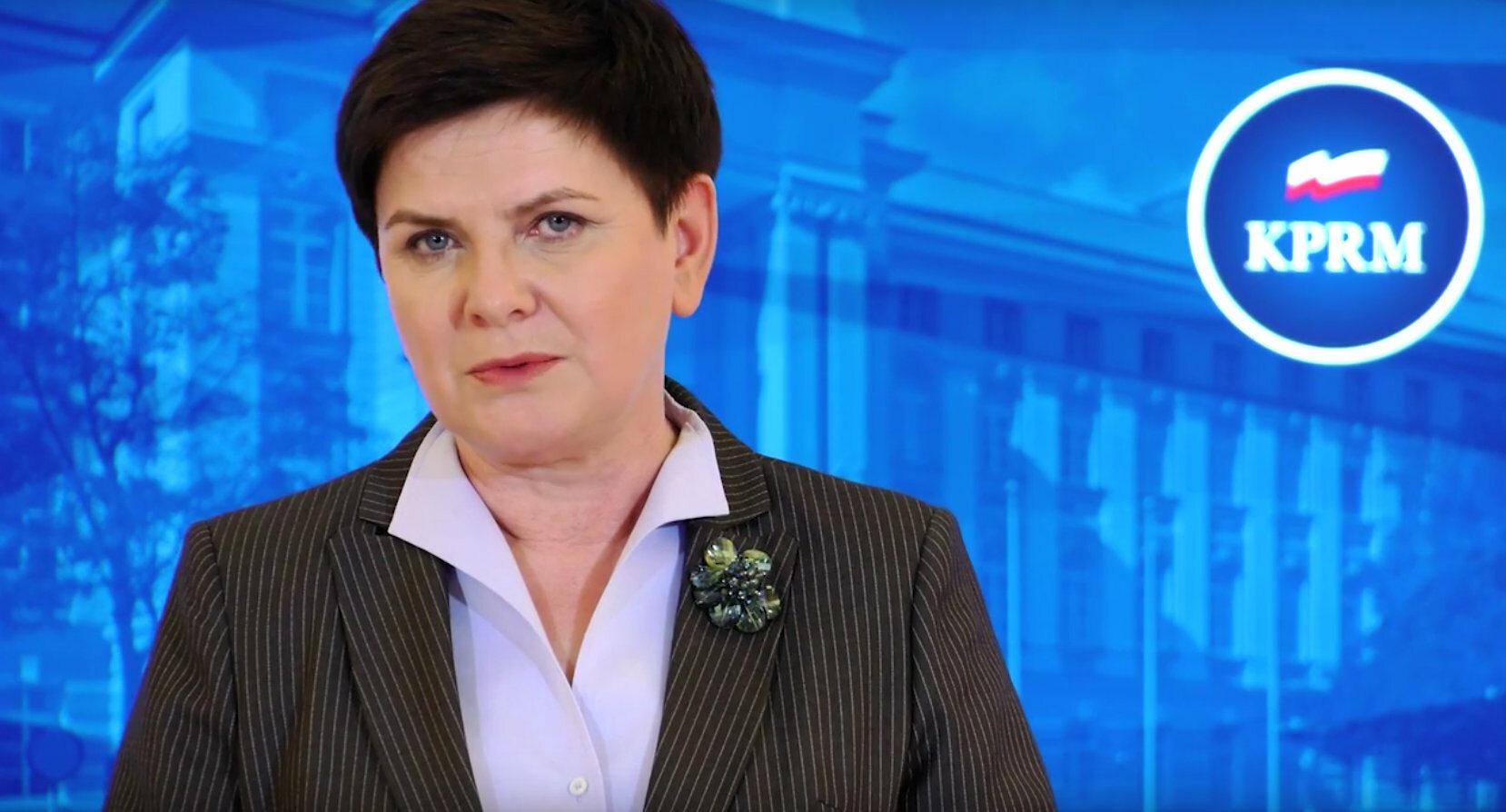 Beata Szydło, premier