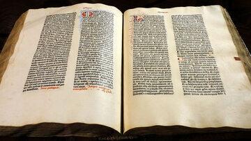 Biblia Gutenberga ze zbioru Muzeum Diecezjalnego w Pelplinie