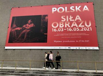 Billboard promujący wystawę.