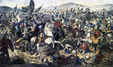 Bitwa na Kosowym Polu. Obraz Adama Stefanovića (1870)