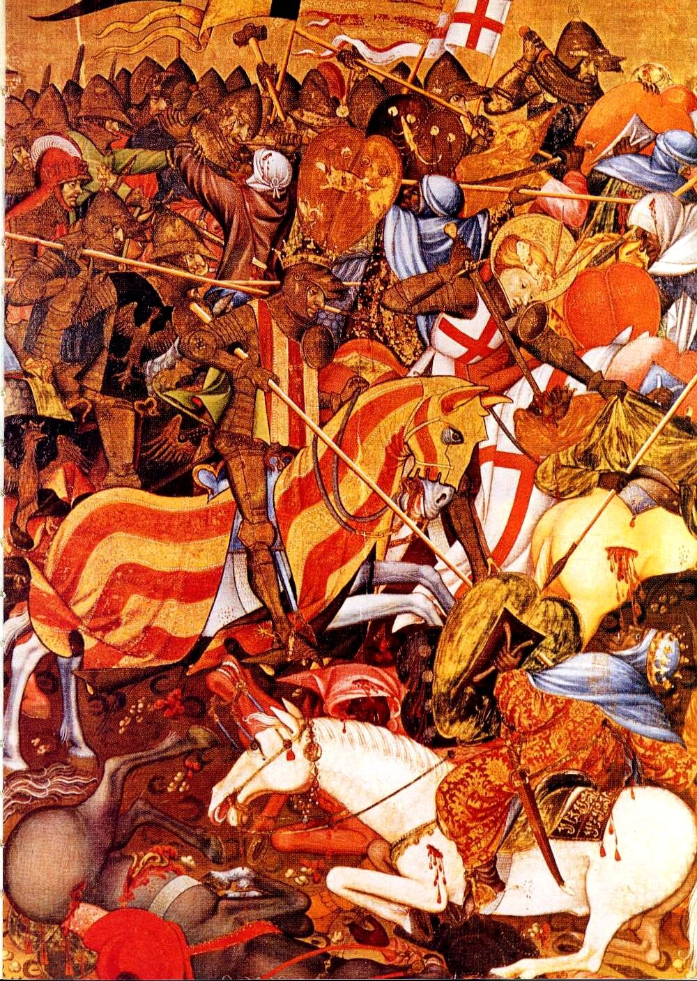 Bitwa o Puig de Santa Maria (1237 r.), obraz z pocz. XV w. Autor: Marzal de Sas.