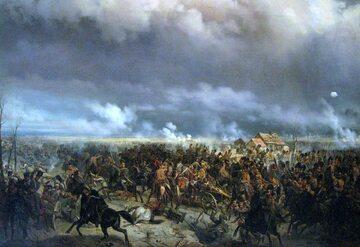 Bitwa pod Grochowem. Obraz Bogdana Willewalde'a (ok. 1850 r.)