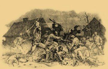 """Bitwa pod Jaworowem; ilustracja z książki """"Małopolska Wschodnia 1939"""" Wojciecha Włodarkiewicza"""