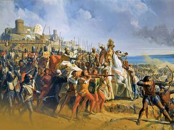 """Bitwa pod Montgisard"", mal. Philippe Larivière."