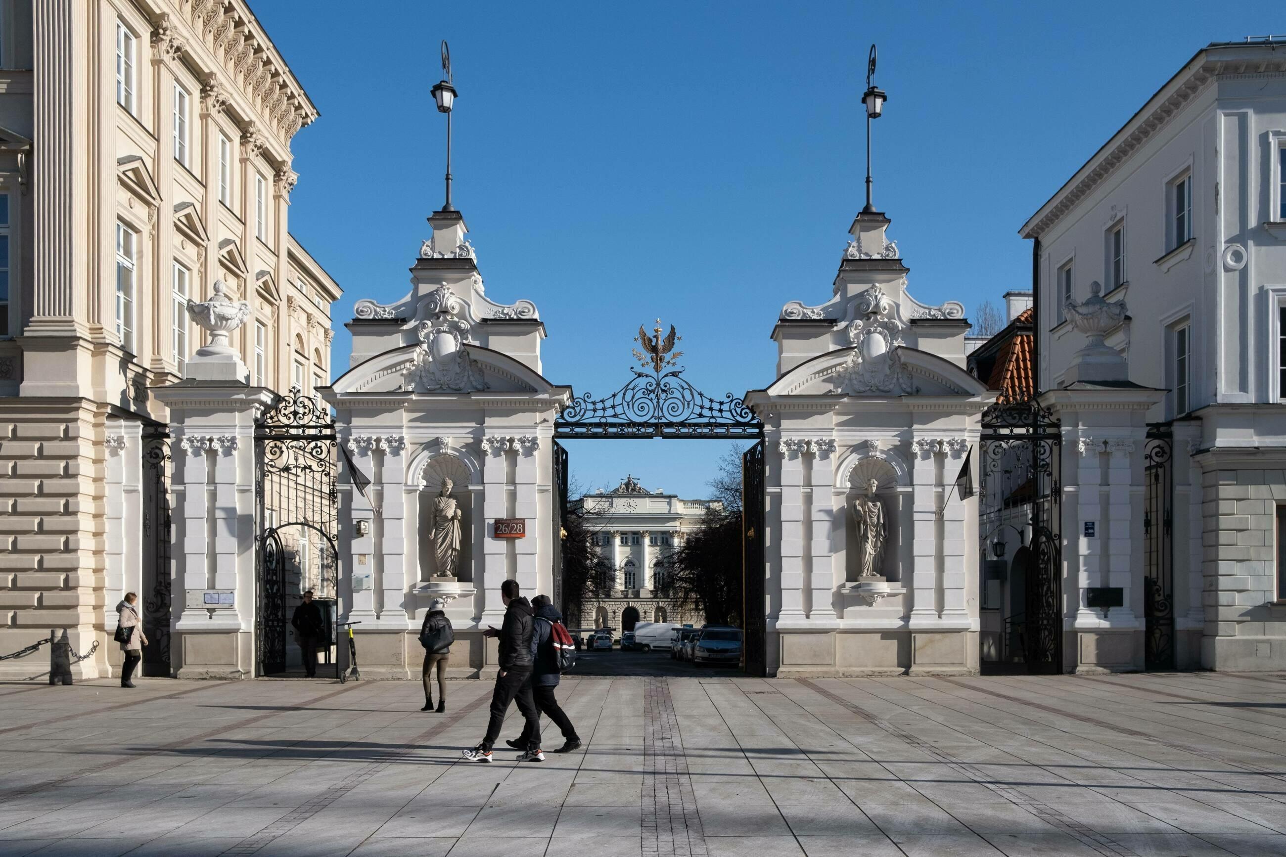 Brama Uniwersytetu Warszawskiego na Krakowskim Przedmieściu