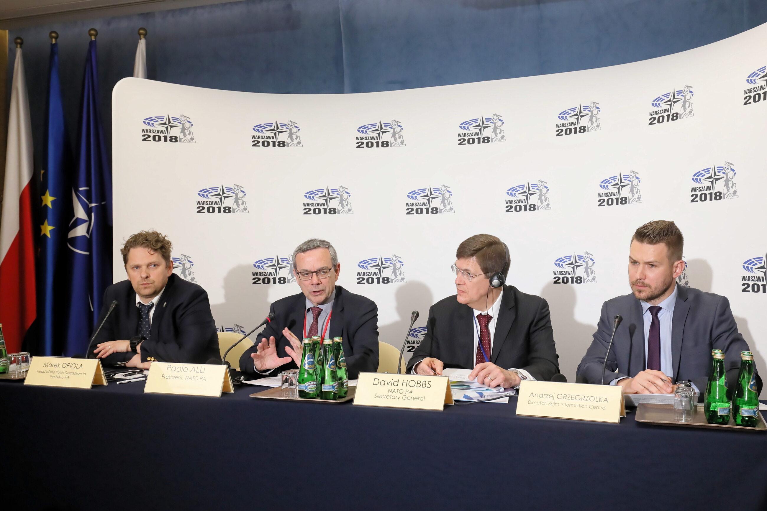 Briefing prasowy inaugurujący sesję Zgromadzenia Parlamentarnego NATO w Sejmie