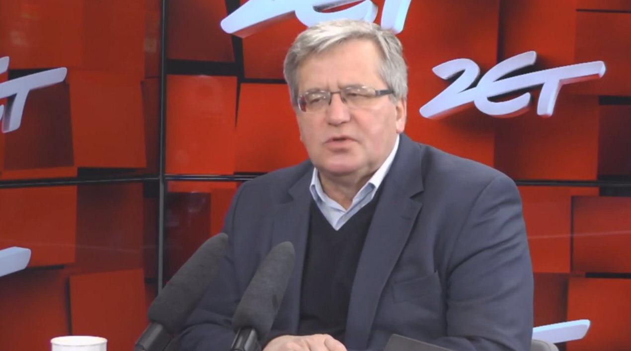 Bronisław Komorowski był gościem Konrada Piaseckiego w porank radia ZET