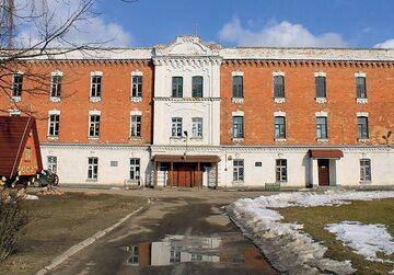 Były budynek obozowy w Berezie Kartuskiej.