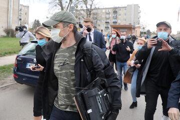 Były minister transportu Sławomir Nowak po opuszczeniu aresztu