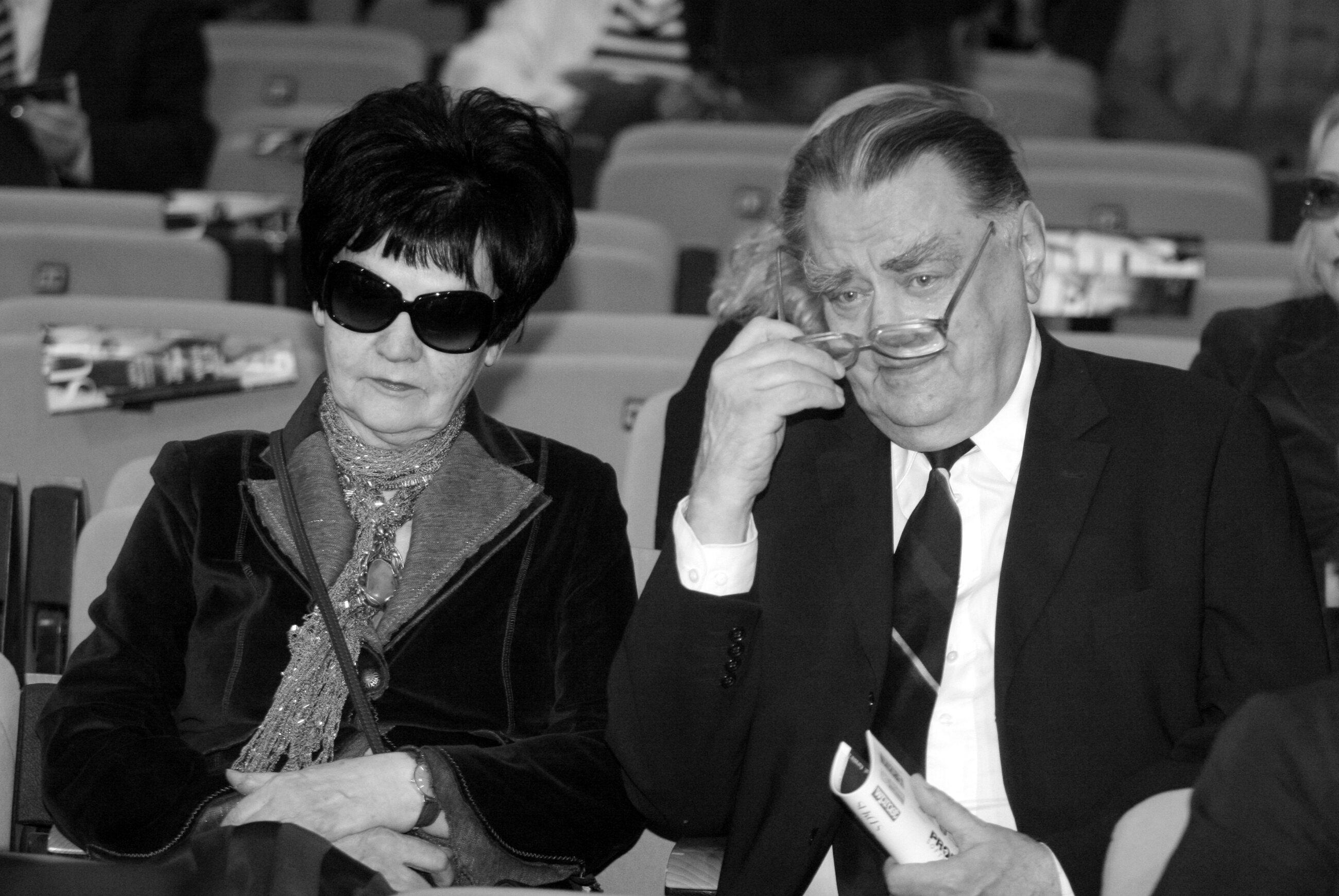 Były premier Jan Olszewski z żoną Martą