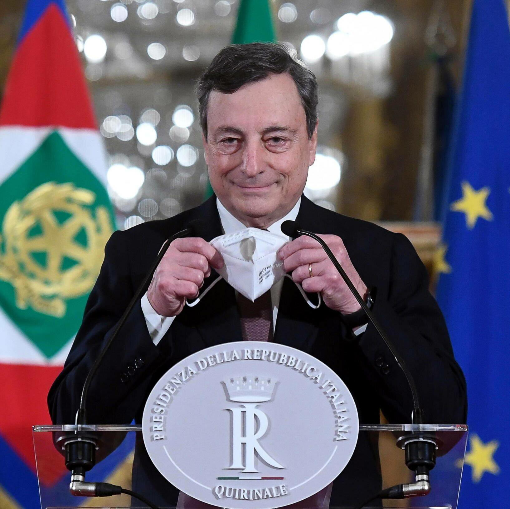 Były szef Europejskiego Banku Centralnego, premier Włoch Mario Draghi.