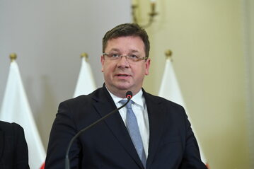 Były wiceminister sprawiedliwości Michał Wójcik